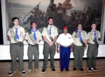 5 Eagle Scouts with Gus Cales 8/7/2016