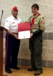 Gus Cales presents MCL Eagle Scout certificate to Tom Garback at his Oct. 22nd Court of Honor.